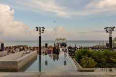Beautiful jewish wedding setting with a spectacular ocean view at Playa del Carmen. All Inclusive Packages, Grand Hyatt, Amazing Weddings, White Sand Beach, Hotels And Resorts, Beautiful Gardens, Night Life, Caribbean, Dolores Park