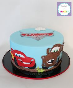 Cars Cake - Lightning McQueen, Mater Cake by Sweet & Snazzy https://www.facebook.com/sweetandsnazzy