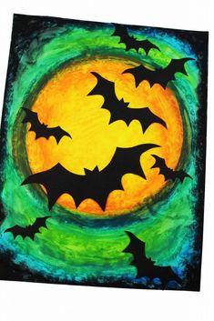 Halloween Kunst, Spooky Halloween Crafts, Halloween Art Projects, Theme Halloween, Halloween Halloween, Halloween Costumes, Halloween Canvas Paintings, Halloween Artwork, Halloween Painting