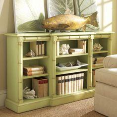 Somerset Bay Vero Beach Bookcase. #laylagrayce #bookcase #green