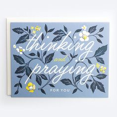 Thinking and Praying Card by AmyHeitman on Etsy