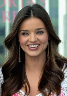 Miranda Kerr Long Center Part - Miranda Kerr Hair - StyleBistro