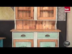 Decorate a dresser with Tjhoko Paint. - YouTube Diy Dresser Makeover, House And Home Magazine, Vintage Colors, Diy Videos, Diy Painting, China Cabinet, Chalk Paint, Cupboard, Bookcase