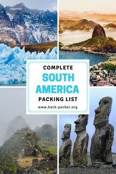 A complete packing list for travel in South America. This universal packing guide covers everything from city travel in Buenos Aires to camping and trekking in Patagonia. Clothes, gear, backpacks, currency, documentation and more. | Back-Packer.org