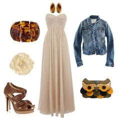 Summer Date Night, created by wernerusc on Polyvore (minus the jean jacket)
