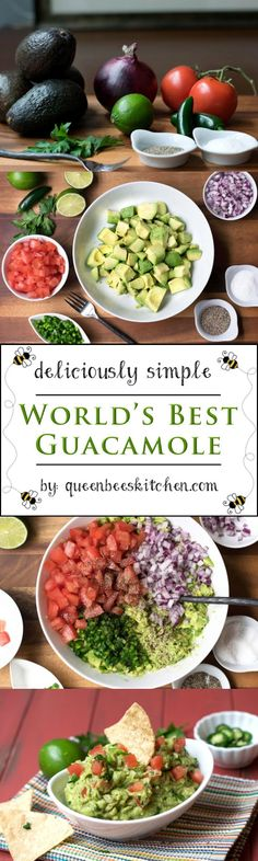 Best guacamole recipe with fresh and healthy ingredients - it will be you go-to recipe for sure! :)