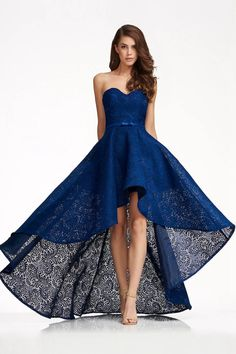 Sweetheart Lace High-low Homecoming Dresses - Dark Navy / US 2 The most beautiful and newest outfit High Low Prom Dresses, Grad Dresses, Formal Evening Dresses, Dress Formal, Teen Dresses, Club Dresses, Spring Dresses, Prom Dresses Australia, Custom Dresses
