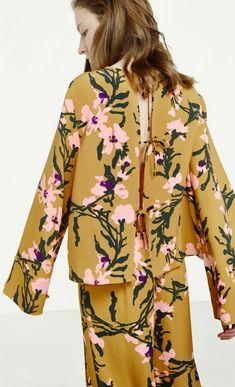 Midiam shirt - brown, pink, green - Tops - Clothing - Marimekko.com