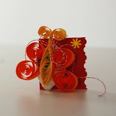 Quilling butterfly - breast pin