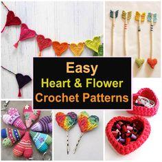 Easy Heart & Flower Crochet Patterns