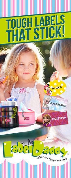 Need help keeping track of your child's stuff?   With our custom naming labels, you can personalize your child's items with their name, address, and phone number.   Get 20% off with BESTSELLER20.