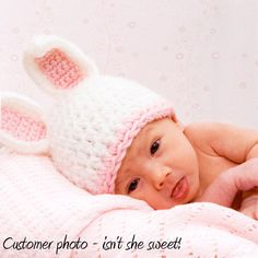 Crochet Bunny Hat Photo Prop, Rabbit Beanie Pick Colors, Micro Preemie Preemie Newborn Original Design Children Animal Hat Easter Photo Prop