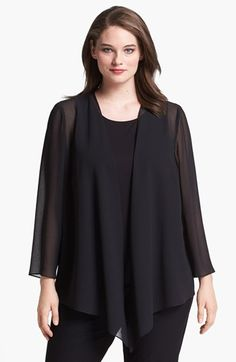 Free shipping and returns on Alex Evenings Georgette Open Jacket (Plus Size) at Nordstrom.com. Sheer, lightweight fabric drapes a sultry open-front jacket cut for a flowing silhouette that dips slightly longer in the front.