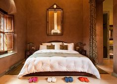 Warm earthen hues pay a tribute to the African heritage of Moroccan design