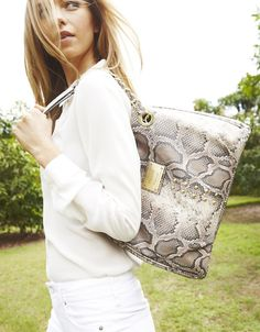 trend: animal print - nicole by nicole miller randy stud-detailed purse