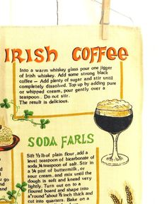 SALE  Vintage Irish Recipes linen towel by by LindasCupboard, $8.00