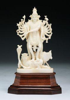 Antique Indian Carved Ivory Goddess : Lot 114