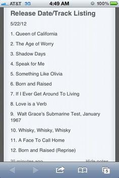 John Mayer - John Mayer announces album release date on his Tumblr!