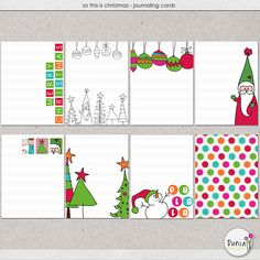 So This is Christmas - Journaling Cards :: Project 365 :: Memory Scraps