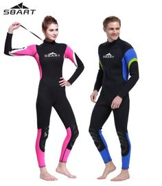 a7a88cb6b20d7 SBART Winter 3mm Neoprene Wetsuit Thermal Long Sleeve Warmth One-piece  Thicken Swimwear Sknorking WetSuits