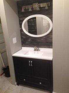 Glacier Bay Candlesby 36 1/2 In. W X 18 3/4 In. D Bath Vanity In Charcoal  With AB Vanity Top In White