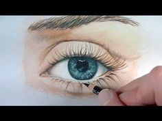 Timelapse   Drawing an eye with colored pencils   Emmy Kalia - YouTube