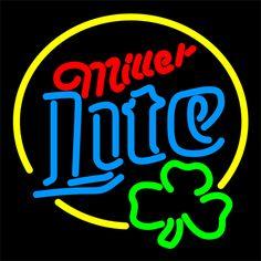 Miller Lite Clover Neon Beer Sign 16x16
