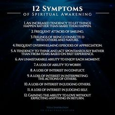 12 symptoms of spiritual awakening