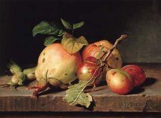 Bild:  William Hammer - Früchtestilleben