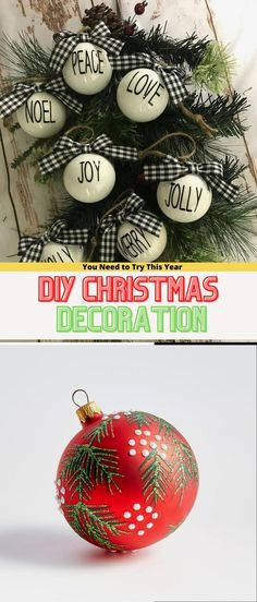 Best DIY Christmas Decoratıon 2020 #christmasdiy Christmas Projects, Christmas Bulbs, Christmas Crafts, Christmas Decorations, Xmas, Holiday Decor, Peace And Love, Decorating, Gifts