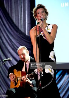 Singer Faith Hill performs onstage at the UNICEF Audrey Hepburn Society Ball honoring former first lady Barbara Bush at the Hilton Americas Hotel on November 6, 2015 in Houston, Texas.