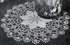Daisy Ring Doily crochet pattern originally published by Lily Design, Book 51, in 1950.