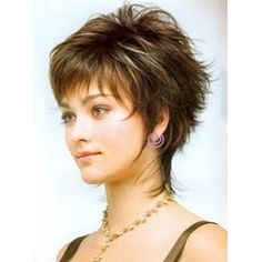New Fashion Trend Carefree Short Straight Wig 100% Human Hair 6 Inches: M.Wigsbuy.com