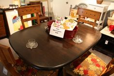 Another view of Kona stained dining table