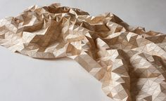 Wooden textile blanket by Elisa Strozyk- amazing!
