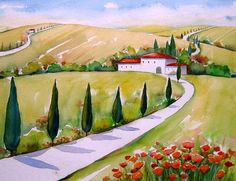 "Meltem Kilic, ""Tuscany Impressions"" With a click on 'Send as art card', you can send this art work to your friends - for free!"