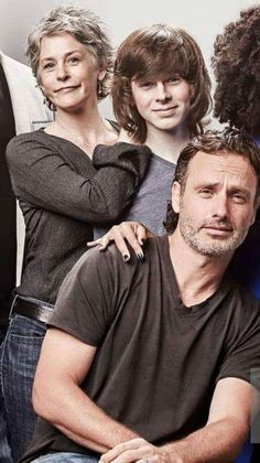 The Walking Dead. Love this shot of melissa mcbride chandler riggs and andrew lincoln