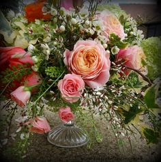 Vuvuzela roses look fab in this natural table display