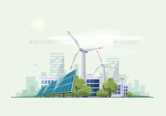 Green Eco City Urban with Solar Panels and Wind Turbines - Miscellaneous Conceptual Download here : https://graphicriver.net/item/green-eco-city-urban-with-solar-panels-and-wind-turbines/19479283?s_rank=3&ref=Al-fatih