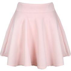 Pink Scuba Skater Skirt ($18) ❤ liked on Polyvore featuring skirts, bottoms, saias, faldas, mini skater skirt, high waisted circle skirt, pink skirt, flared skirt and jersey mini skirt