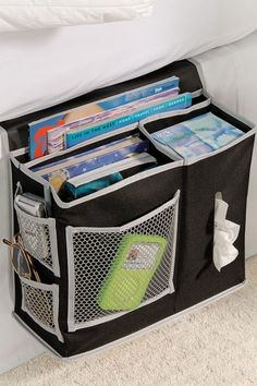 Gear Box Polyester Bedside Caddy - Black/Grey by Back To College: Organizing Essentials on @HauteLook