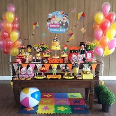 THE Bita World Party It is perfect for celebrating the birthday of a child aged 1 to 4 years. Surely the little birthday girl will love the idea of Baby Boy Birthday, 13th Birthday, Birthday Cake, Chocolate Lollipops, Colourful Balloons, Helium Balloons, Birthday Photos, Baby Party, Birthday Decorations