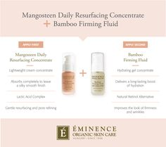 Learn how to make Eminence Organics bestselling Bamboo Firming Fluid work even better. Organic Beauty, Organic Skin Care, Eminence Organics, Eminence Skin Care, Diy Beauty Secrets, Beauty Hacks, Beauty Ideas, Beauty Products, Beauty Care