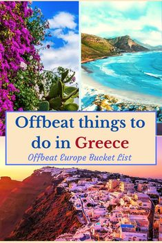 Celebrate the much waited Summer: 20 Offbeat Destinations in Greece for Nature Lover! : Orange Wayfarer Greece Destinations, Travel Destinations, Europe Travel Guide, Amazing Destinations, Travel Guides, Places To Travel, Places To Visit, Travelling Europe, Travel Themes