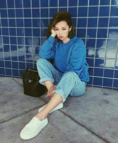 @ iamkareno with boyfriend jeans