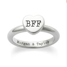 Who's your BFF? Petite Heart Ring from James Avery #engraving