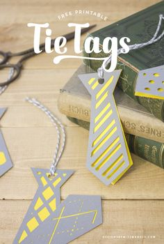 Tie Tags for Father's Day – Designs By Miss Mandee. These die cute tags would make such a cute adornment with a Father's Day gift! Download the printable files as well as svg cut files for FREE!