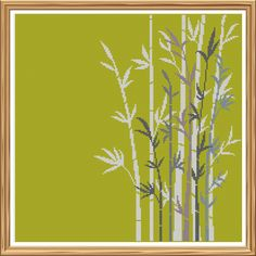 (10) Name: 'Embroidery : Modern Bamboo (cross stitch) this would make a gorgeous afghan