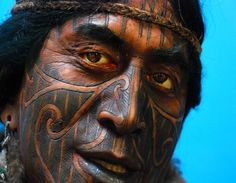 A Maori warrior at the Akaroa Museum in Christchurch, New Zealand.