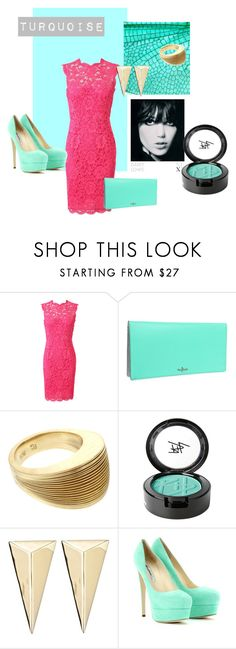 """""""Beautiful TURQUISE"""" by zohet-vega ❤ liked on Polyvore featuring Valentino, Cole Haan, Antonio Bernardo, Beauty Is Life, Alexis Bittar, Brian Atwood, lace dresses, turquoise, pumps and dress"""